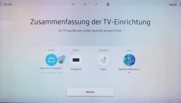 Samsung Q9FN Menue 6